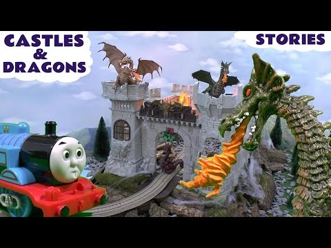 Thomas And Friends Castles Dragons Play Doh Surprise Eggs Hot Wheels Smurfs Toy Stories video