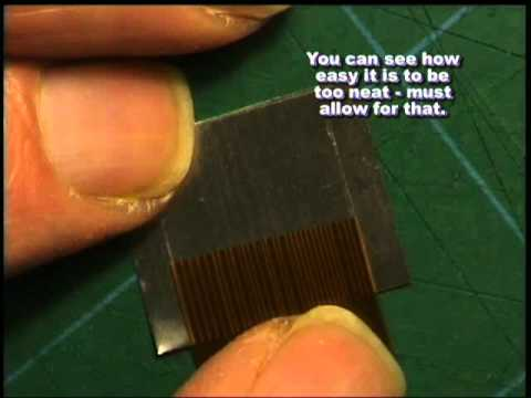 Splice A Torn Snapped Flexiboard Ribbon Cable Youtube