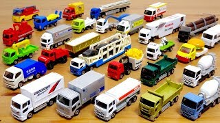 はたらくくるま トミカ いろんなトラック祭☆TCN UDトラックス クオン ブリヂストントラック ゴミ収集車 キャリアカー など 子供向け動画☆