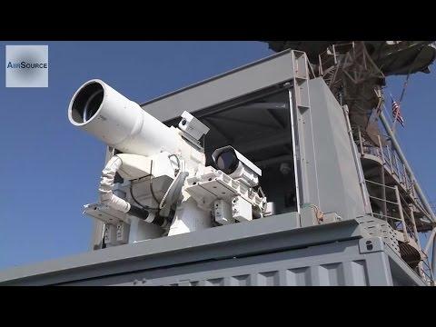 US Navy's New Killer Laser Gun  LaWS Laser Weapon System Live fire