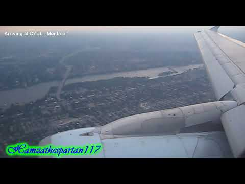 Air Canada Airbus A321 Arrival into CYUL Montreal-Light Turbulence