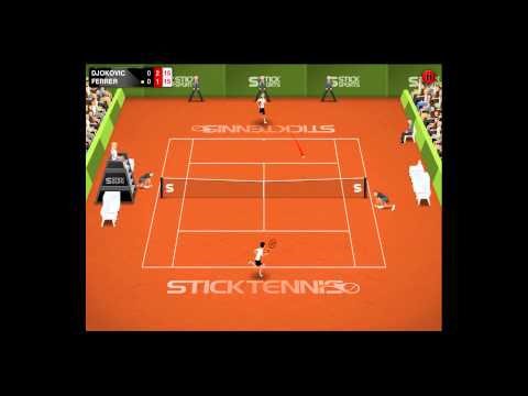 Djokovic vs Ferrer  French Open Finals  Stick Tennis