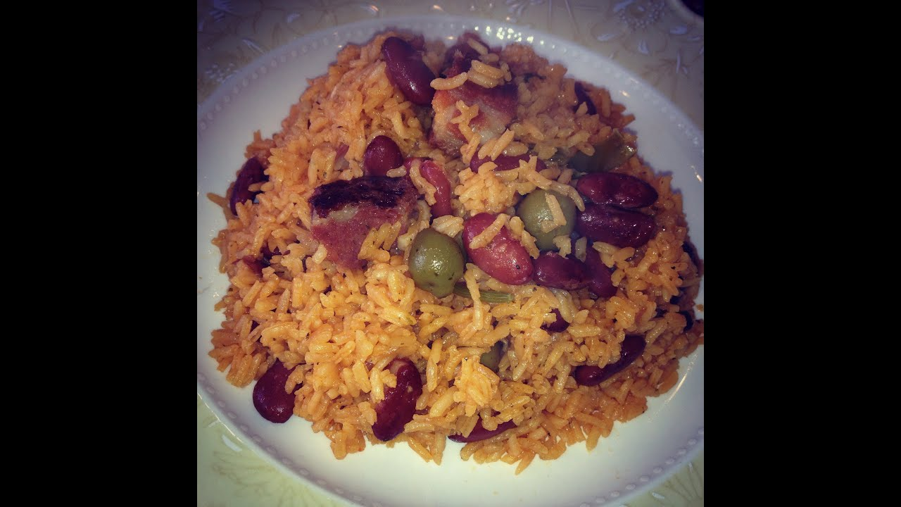 spanish style rice and beans moro de habichuelas cook
