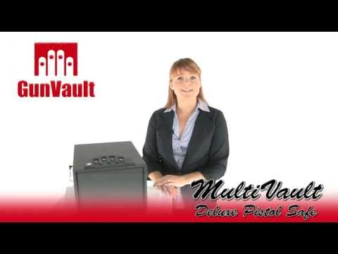 GunVault GV2000C-DLX MultiVault Deluxe Digital Pistol Safe