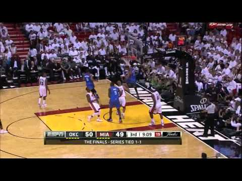 All dunks Miami Heat vs Oklahoma City Thunder full highlights GM3 NBA FINALS 2012.06.17 HD
