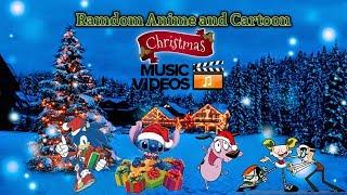 Random Anime and Cartoons Christmas Music Video