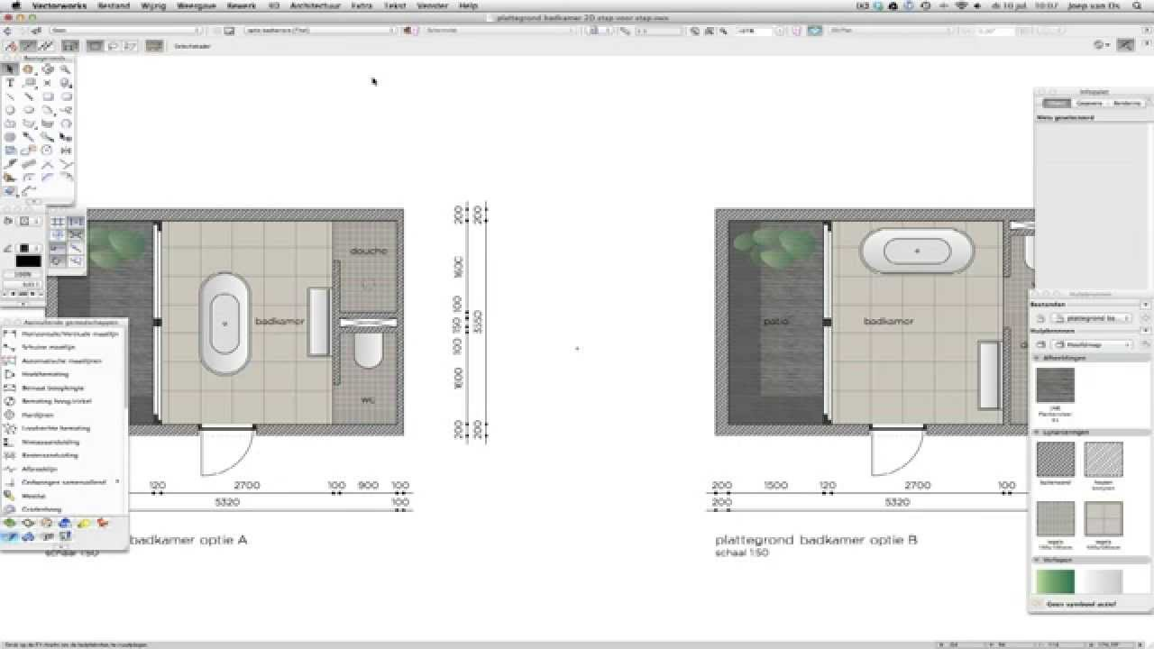 Vectorworks cursus 2d intro youtube for Cursus 3d tekenen interieur