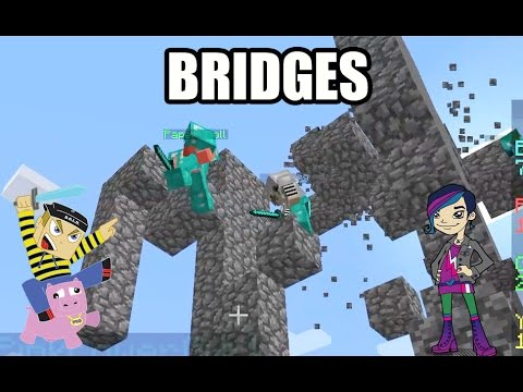 The Bridges Friday - Playing Minecraft Bridges with Radiojh Audrey Games