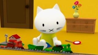 Мультики Детям - Мусти - Паровозики - про игрушечные поезда