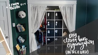 DIY Closet Organization- Kids Clothing Labels - IKEA HACK- 2018 DIY & Decor Organization Challenge