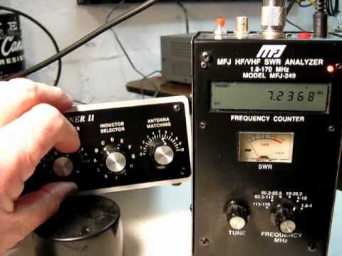 Part 3 Demonstration of controls settings on MFJ941E Antenna Tuner