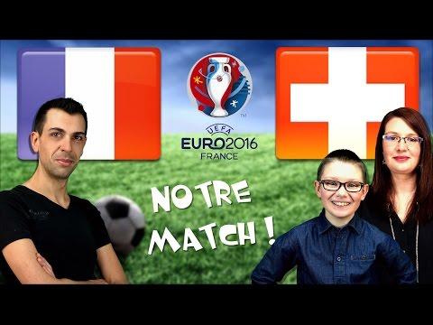 EURO 2016 : FRANCE - SUISSE ! Match, résultat et challenge en famille / FIFA 16 - Family Geek