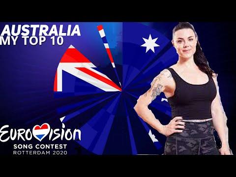 Eurovision 2020 |Australia Preselection (Australia Decides) - MY TOP 10
