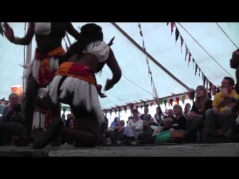 Zakale Dance Troupe at Galtres Festival - Arts Barge Tent