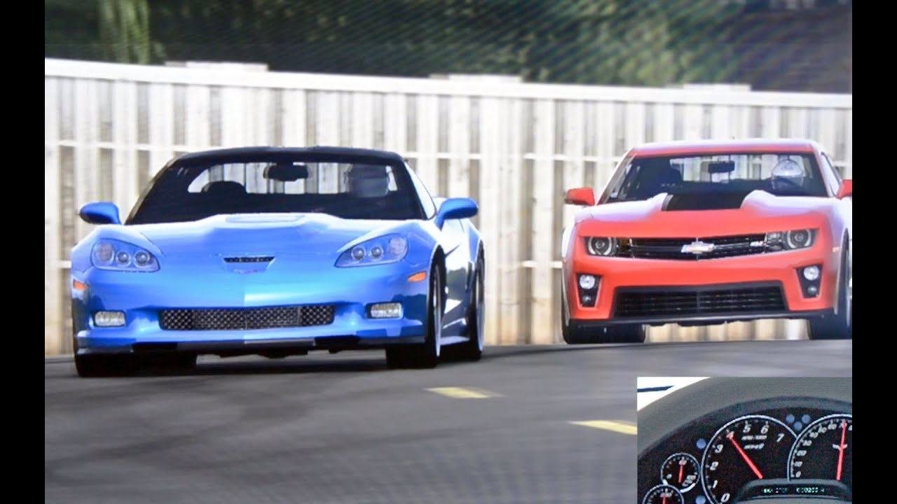 Top Gear Corvette Zr1 Vs Camaro Zl1 Test Track Youtube