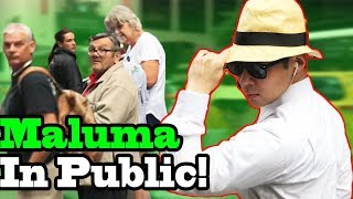 "MALUMA - ""El Prestamo"" - SINGING IN PUBLIC!!"
