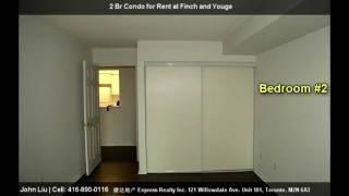 Upgraded Split 2 Bedroom Condo for Rent @ 39 Pemberton Ave., Toronto, CANADA