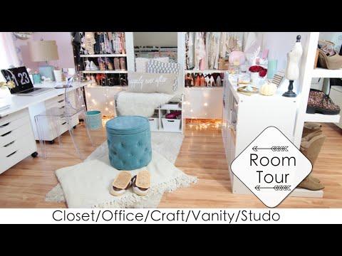 5 Into 1 Room Tour + DIYs Closet/Office/Vanity/Craft/Studio (LisaPullano)