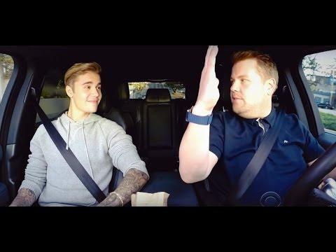 Джастин Бибер поет караоке в такси Джеймса Кордена на русском - Web For Every