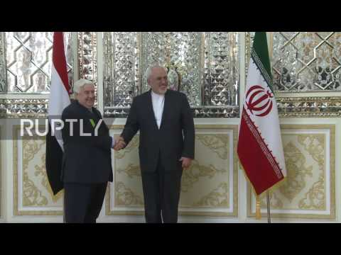Iran: Syrian FM Meets Zarif In Tehran To Discuss Ceasefire And Peace Talks