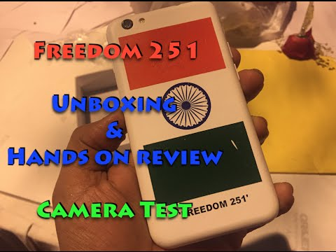 Freedom 251 Hands on Review. Unboxing and Camera Test