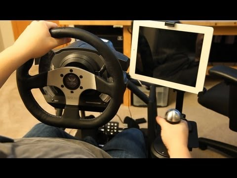 How to install iPad mount on Obutto Revolution racing cockpit (DIY)