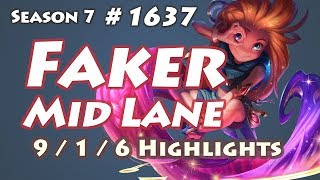 SKT T1 Faker - Zoe vs Ryze - KR LOL Highlights | 페이커 조이