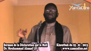 Sermon de la Déclaration de l'Union des Savants d'Afrique Noire sur la Crise au Mali