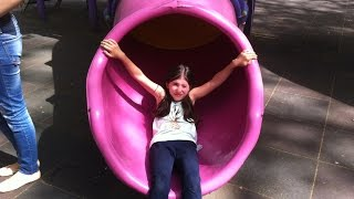 Outside Playground Fun Day on Colorfull Slides - Video for Kids Part #1