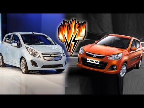 New Maruti Alto K10 Vs Datsun GO Vs Hyundai Eon Vs Chevrolet Spark   Specifications Comparison
