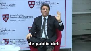 Matteo Renzi prova il suo inglese a Harvard