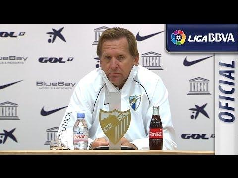 Rueda de Prensa de Schuster tras el Málaga CF (0-1) Atlético de Madrid - HD