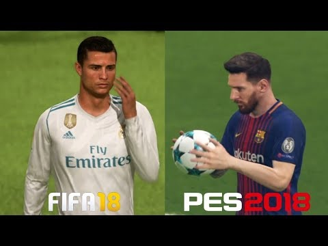 FIFA 18 Vs. PES 2018 | Penalty Shootout Gameplay Comparison | PS4, XBox One, PC