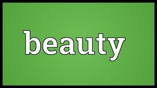 Beauty Meaning