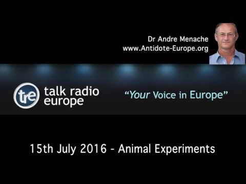 Dr Andre Menache on animal experiments, Talk Radio Europe, 15th July 2016