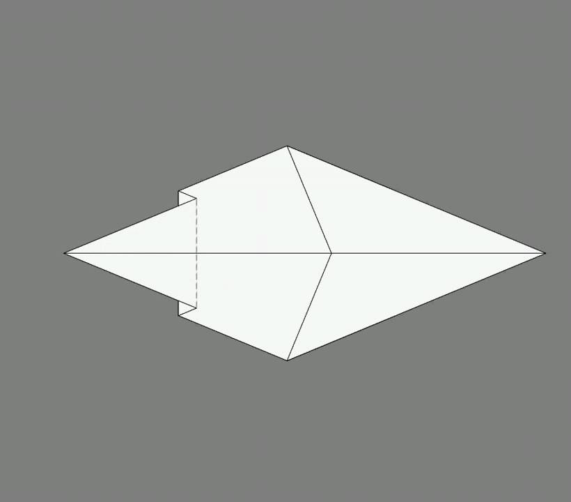 Оригами схема сборки тигр