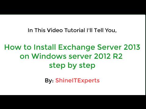 Installation of Exchange Server 2013 on Windows Server 2012 R2 step by step