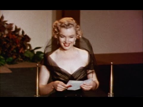 Marilyn Monroe presents an
