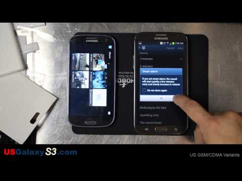 Samsung Galaxy Note 2 - Setting the Alarm (same as S3)