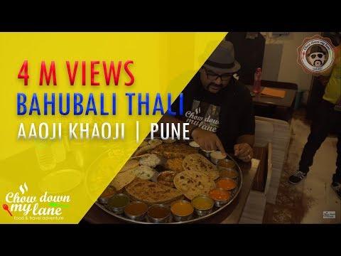 World's Biggest Veg Thali    Bahubali Thali    Aaoji Khaaoji - Pune