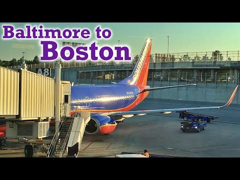 Full Flight: Southwest Airlines B737-300 Baltimore to Boston (BWI-BOS)