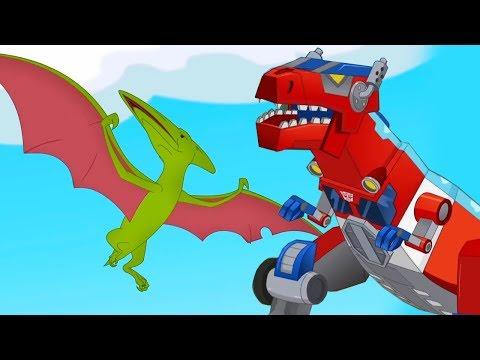 Мультик Трансформеры Боты Спасатели про динозавров! Земля до Прайма