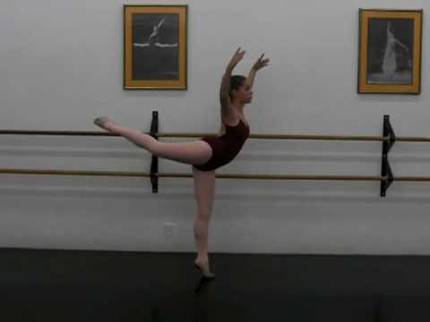 Ballet Class Balance Attitude Pose Arabesque, Age 14 - YouTube