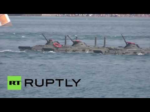Военный парад в День ВМФ России в Севастополе