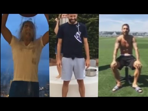 Ice Bucket Challenge Compilation ● BEST FOOTBALL PLAYERS (Falcao, Sergio Ramos, Piqué, Matuidi...)