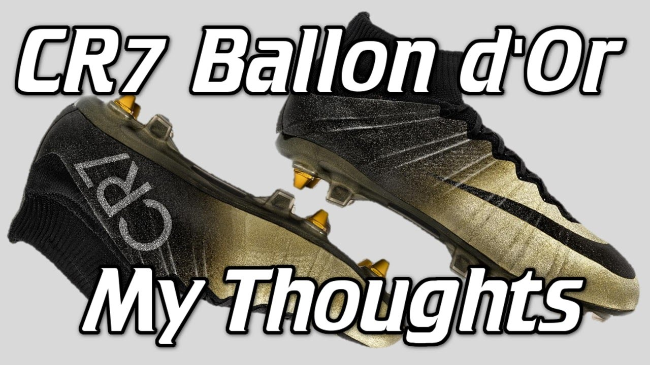 Ballon D'or Rare Gold Nike Cr7