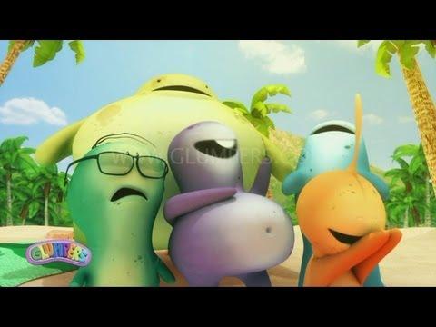 Glumpers, desenhos divertidos - Dia na Praia - Glumpers, animaçao engraçada