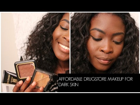 MAC DUPES? $6 FOUNDATION?!  DRUGSTORE MAKEUP FOR DARK SKIN FT. BLACK RADIANCE