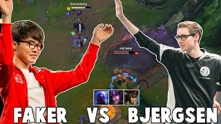 WHEN BJERGSEN VS FAKER IN NA CHALLENGER
