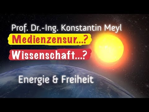 Prof.Dr.Ing.Konstantin Meyl►#Medienzensur in der #Wissenschaft ►#NEUTRINOS ► #FreieEnergie ►↓↓INFO↓↓